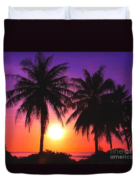 Paradise Is Waiting Duvet Cover by Scott Cameron
