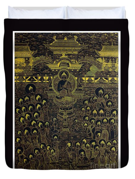Paradise Of Holy Sakyamuni Duvet Cover