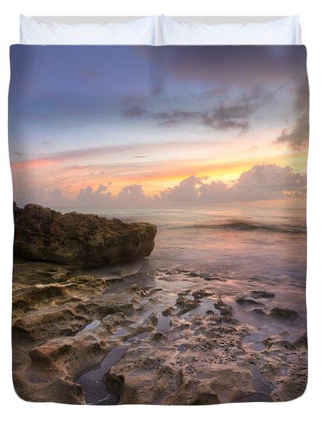 Paradise On Jupiter Duvet Cover by Debra and Dave Vanderlaan