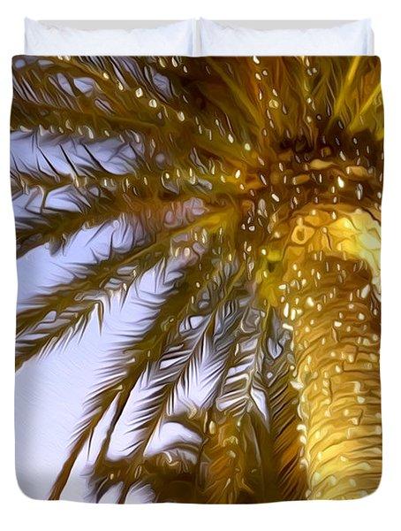 Paradise Palm Duvet Cover