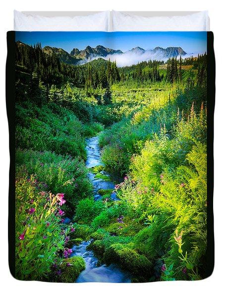 Paradise Stream Duvet Cover by Inge Johnsson