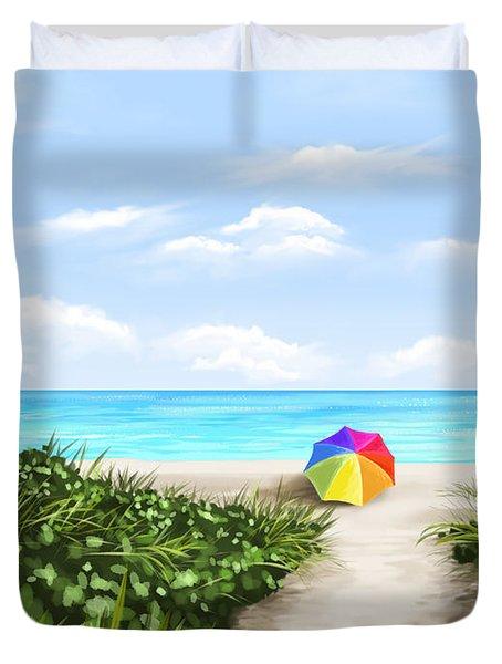 Paradise Duvet Cover by Veronica Minozzi