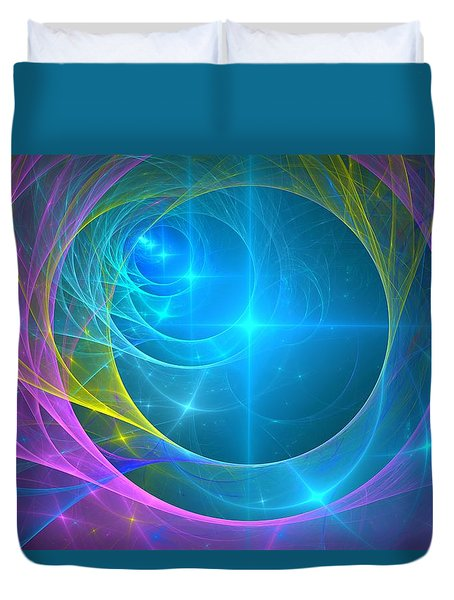 Parallel Realities Duvet Cover