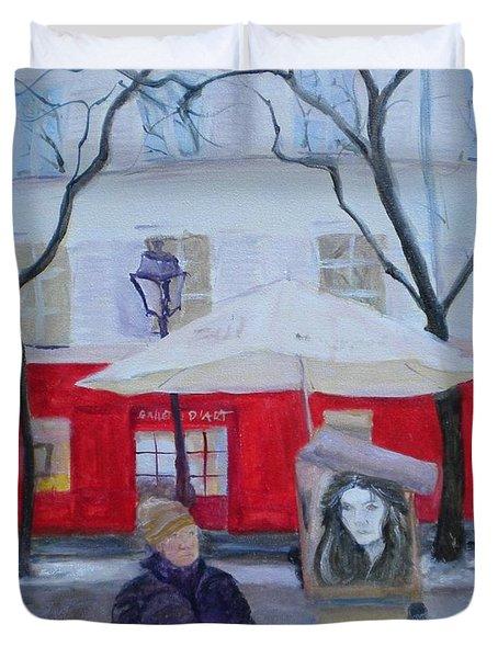 Paris Artist, 2010 Oil On Canvas Duvet Cover
