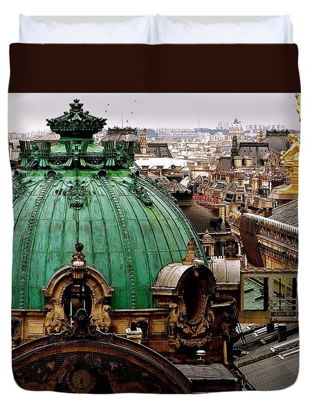Paris Drizzles Duvet Cover by Ira Shander