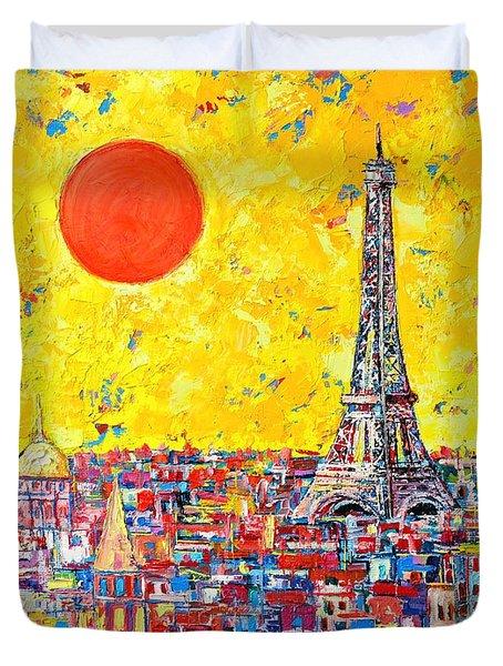 Paris In Sunlight Duvet Cover