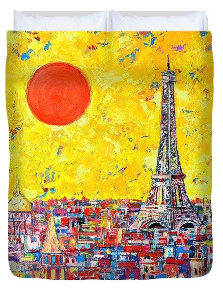 Paris In Sunlight Duvet Cover by Ana Maria Edulescu