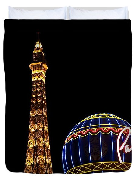 Paris In Vegas Duvet Cover