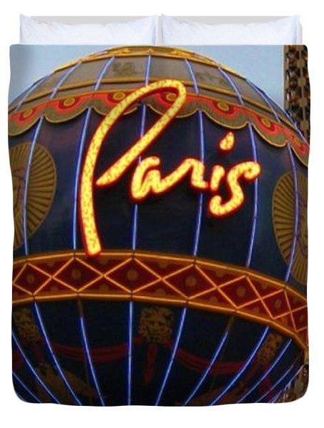 Paris In Vegas Duvet Cover by John Malone