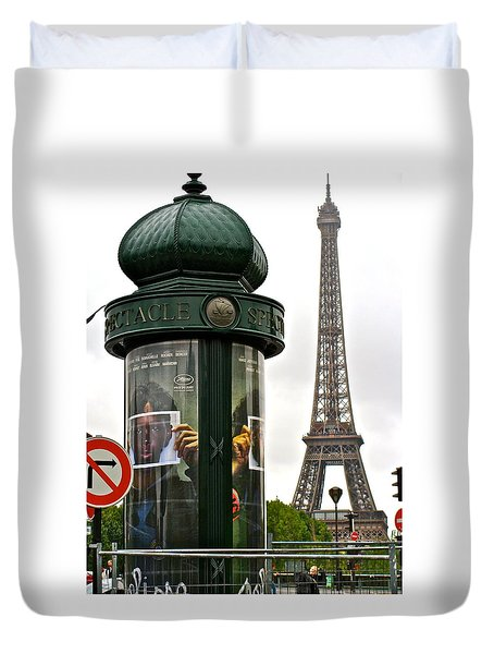 Duvet Cover featuring the photograph Paris by Ira Shander