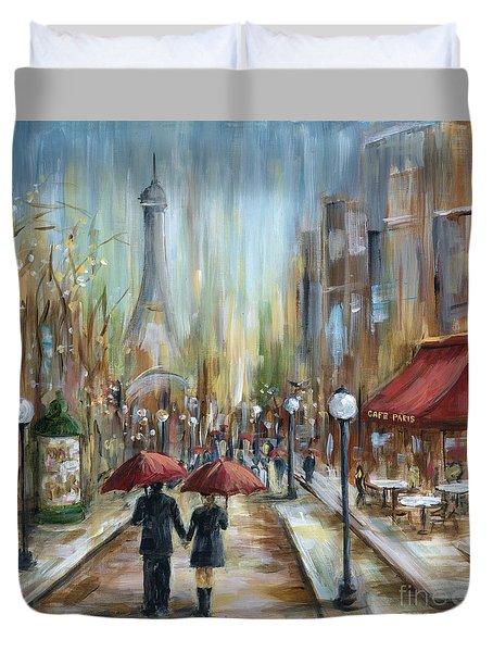 Paris Lovers Ill Duvet Cover