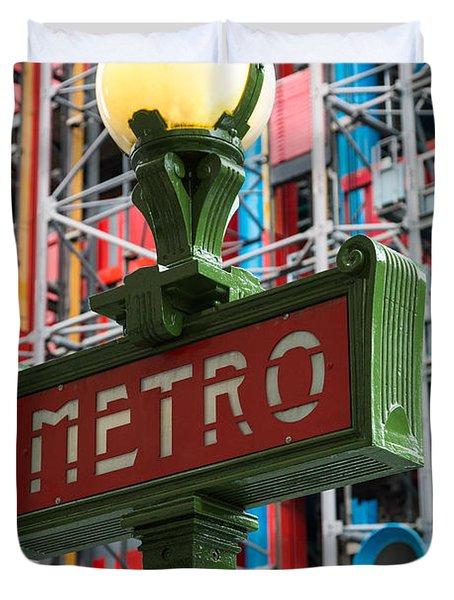 Paris Metro Duvet Cover by Inge Johnsson
