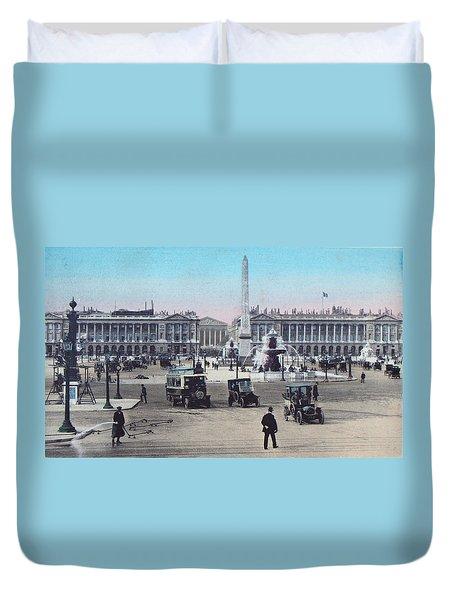 Paris Place De La Concorde 1910 Duvet Cover