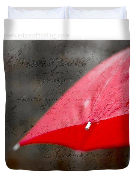 Paris Rains Original Signed Mini Duvet Cover