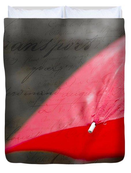 Paris Spring Rains Duvet Cover by Edward Fielding
