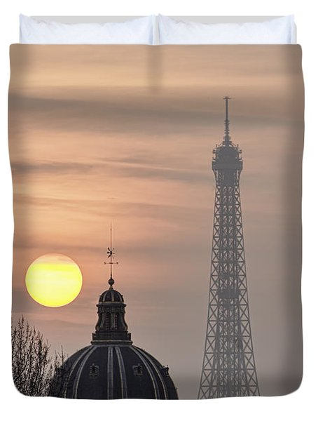 Paris Sunset I Duvet Cover by Mark Harrington