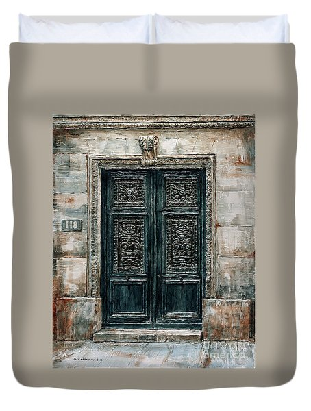 Parisian Door No. 118 Duvet Cover