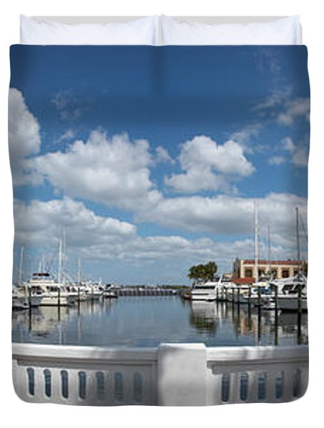 Park At The Riverside, Twin Dolphin Duvet Cover