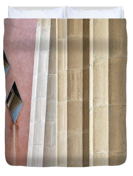 Park Guell Pillars Duvet Cover by Dave Bowman