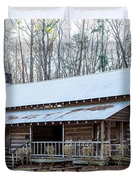 Park Ranger Cabin Duvet Cover