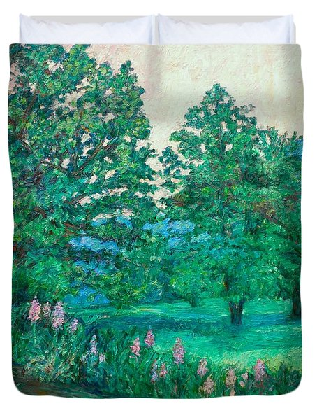Duvet Cover featuring the painting Park Road In Radford by Kendall Kessler