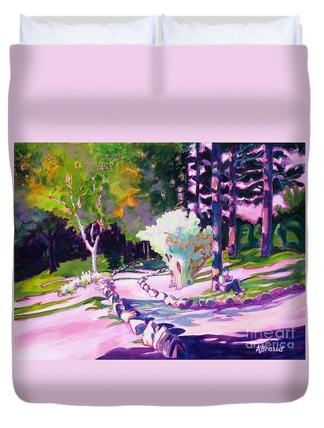Park Trails 2           Duvet Cover by Kathy Braud