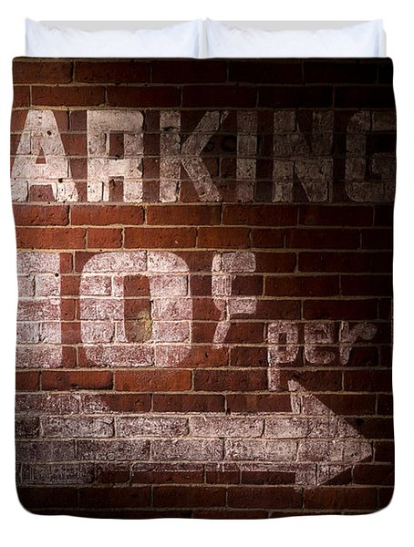 Parking Ten Cents Duvet Cover by Bob Orsillo