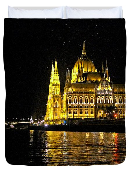 Parliament At Night Duvet Cover