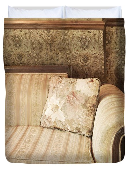 Parlor Seat Duvet Cover by Margie Hurwich