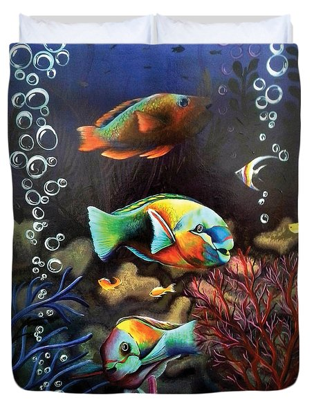 Parrot Fish Duvet Cover