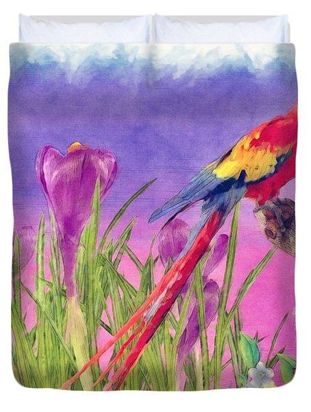 Parrot Duvet Cover by Liane Wright