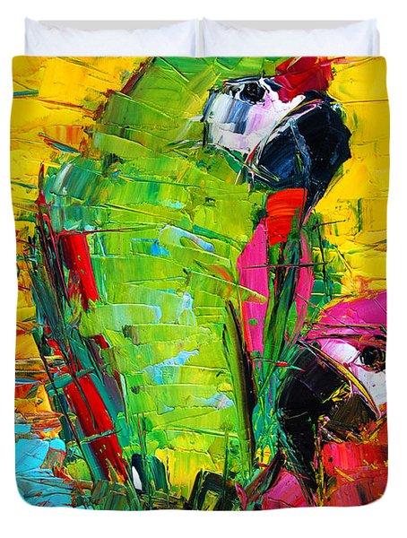 Parrot Lovers Duvet Cover