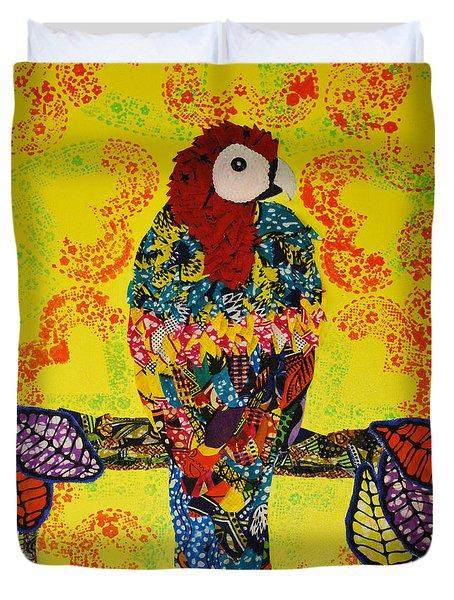 Parrot Oshun Duvet Cover by Apanaki Temitayo M