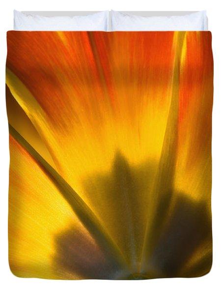 Parrot Tulip - D008405 Duvet Cover by Daniel Dempster