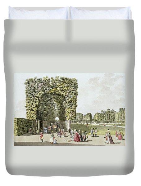 Part Of The Garden At Ausgarten Duvet Cover by Johann Ziegler