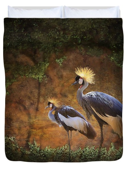 Partners In Paradise Duvet Cover
