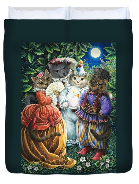 Party Cats Duvet Cover