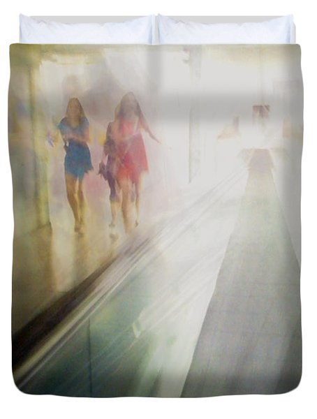 Duvet Cover featuring the photograph Party Girls by Alex Lapidus