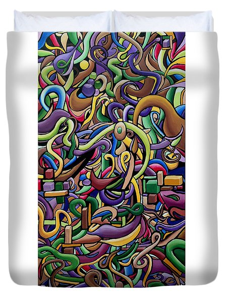 Party Life 2 - Modern Abstract Painting - Ai P. Nilson Duvet Cover