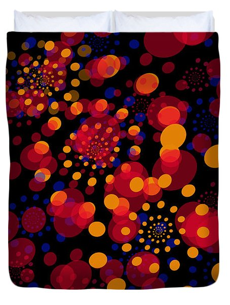 Party Time Abstract Painting Duvet Cover