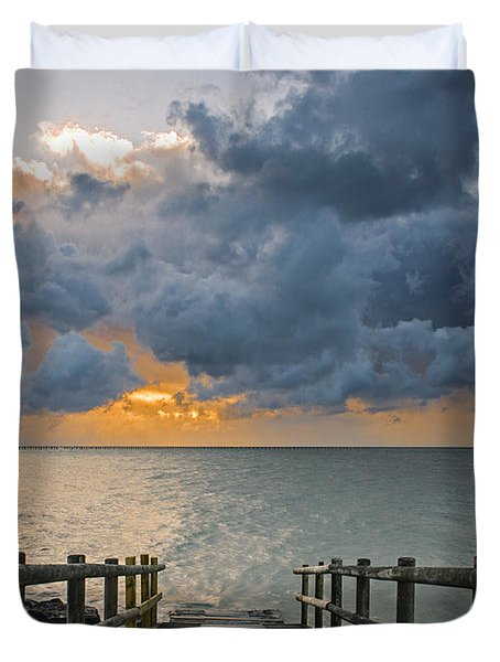 Duvet Cover featuring the photograph Passing Storm by Trevor Chriss