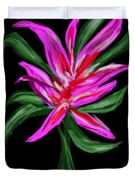 Duvet Cover featuring the digital art Passion Flower by Christine Fournier