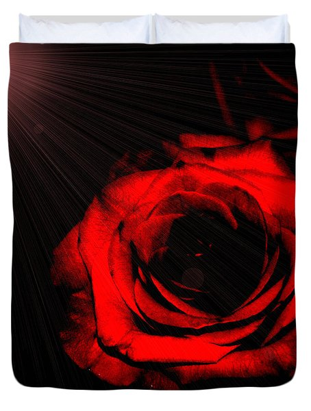 Passion. Red Rose Duvet Cover