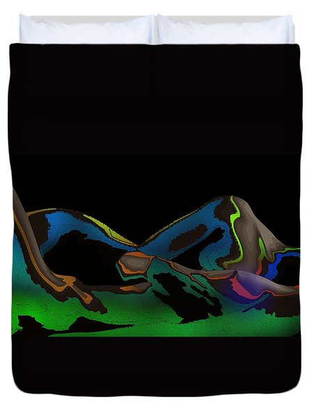 Duvet Cover featuring the digital art Possession by Maciek Froncisz