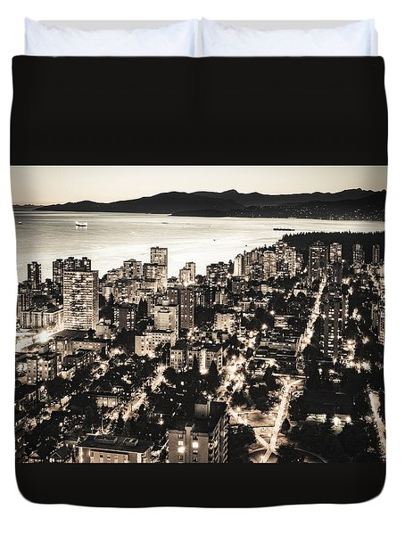 Passionate English Bay Mccclxxviii Duvet Cover by Amyn Nasser
