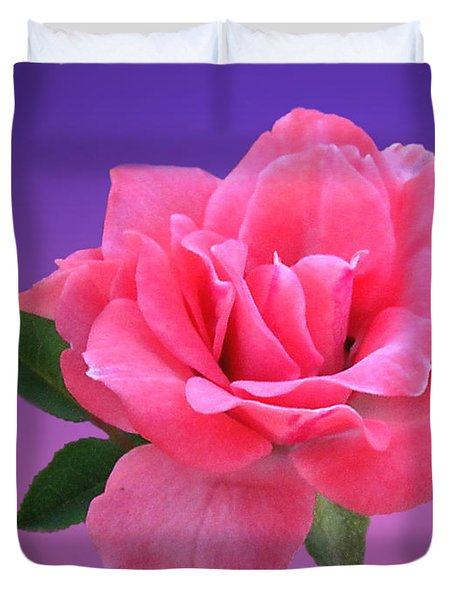 Duvet Cover featuring the photograph Passionate Pink by Joyce Dickens