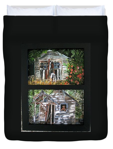 Duvet Cover featuring the painting Past Prime  by LaVonne Hand
