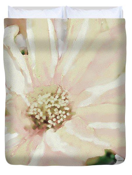 Pastel Daisy Photoart Duvet Cover