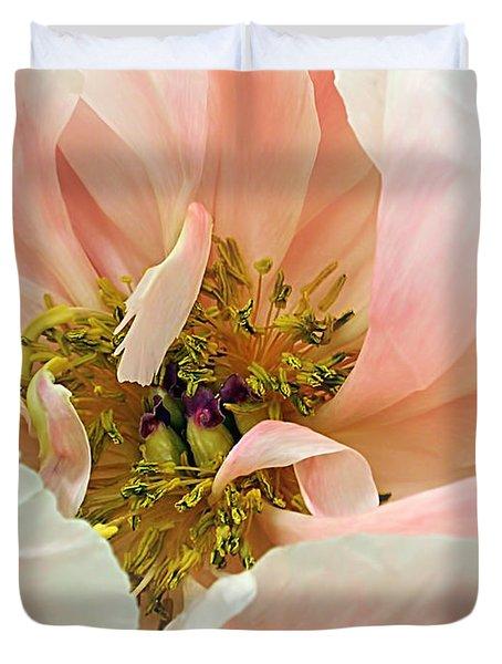 Pastel Floral Duvet Cover by Kaye Menner