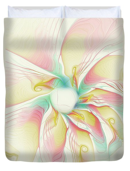 Pastel Flower Duvet Cover